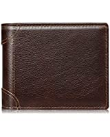 Mens Wallet RFID Genuine Leather Slim Bifold Wallets For Men Removable ID Windows 11 Cards Holders Gift Box (Coffee Brown)