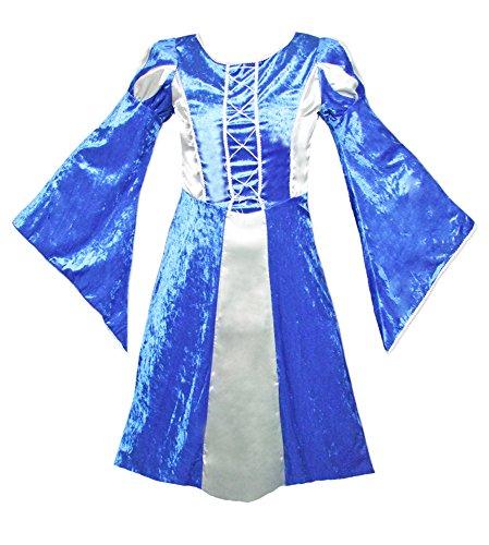 Burgfräulein Prinzessin Helena Blau Silber Gr. 140 - 6