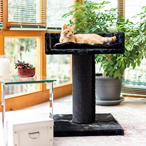 CanadianCat Company ® | Residenz | XXL Liege - Kratzbaum | Schwarz | 19cm Säule | große Katzen
