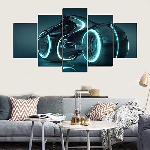 WSNDGWS Decoratie Canvas Schilderij Motorfiets Spray Schilderij Canvas Geen fotolijst 40x60cmx2 40x80cmx2 40x100cmx1 A3