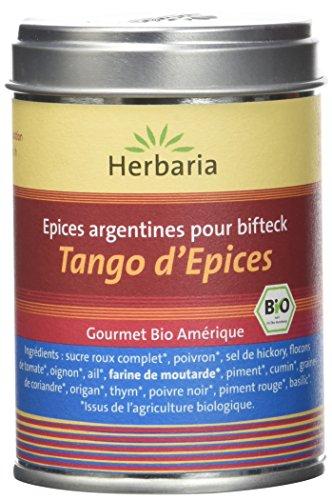 Herbaria Tango d'Epices Mélange d'Épices Bio Argentine pour BBQ Boîte 100 g
