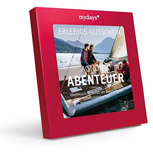 mydays Erlebnis-Gutschein Action & Abenteuer, 1 Person, 70 Erlebnisse, 375 Orte, Geschenk für Männer