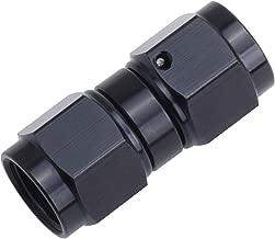 EVIL ENERGY 6AN Female to 6AN Female Straight Swivel Coupler Fitting Adapter Union Aluminium Anodized Black