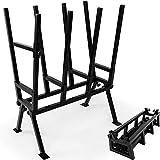 Monzana Cavalleto taglialegna 77x50x105cm carico max. 400kg supporto per legna staffa di bloccaggio regolabile in altezza acciaio