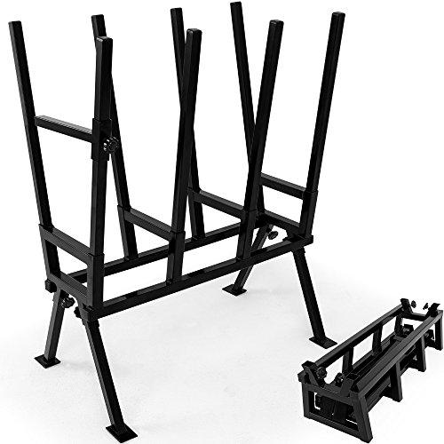 Chevalet de sciage pour bois acier robuste réglable en hauteur sangle de verrouillage extrémités protections chevalet démontable