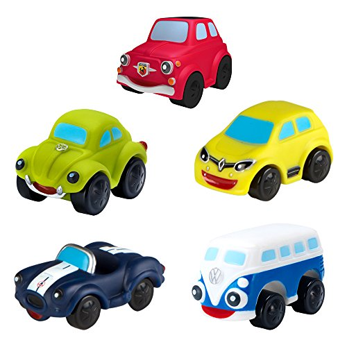 Motor Town - Pack 5 vehículos blanditos para bebés, 2 surtidos (43172)