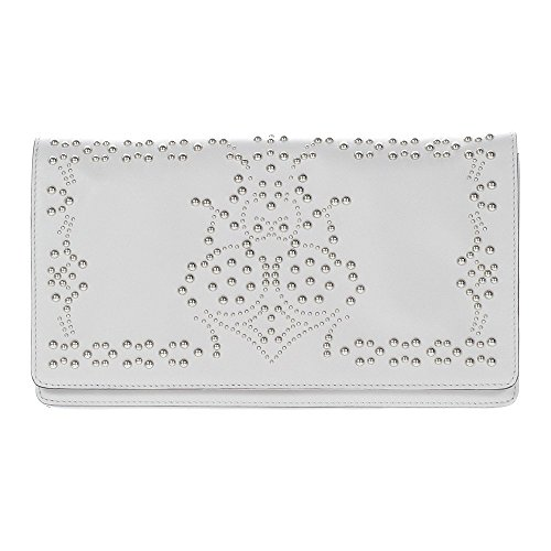 abro Clutch Mustang Rock Leder in light grey ab-27515-56-13
