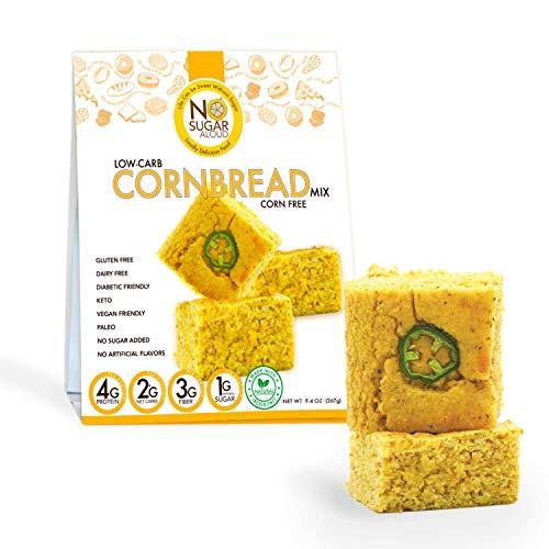 No Sugar Aloud Low Carb Corn free Corn Bread Mix (No sugar added, gluten free, Vegan, Keto )