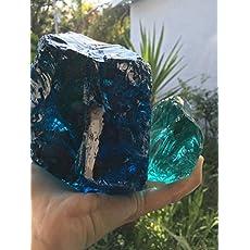 Slag Glass Boulder ~ Blue ~ Crystal