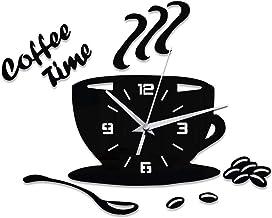ساعة حائط من بي دبليو اس جيه، ساعة حائط صامتة ثلاثية الابعاد بتصميم ابداعي، غطاء حائط مزخرف بقطر بدون مقياس لغرفة النوم وا...