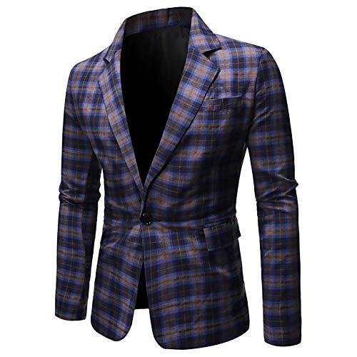 Story of life vrijetijdspak heren ruiten eenknopsjack losse eenrijs blazer prom party mantel