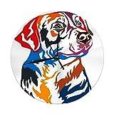 Night Ing Retrato Colorido del Reloj de Pared Redondo del Mayor Perro de montaña Suizo Decorativo para el hogar, la Oficina, la Escuela