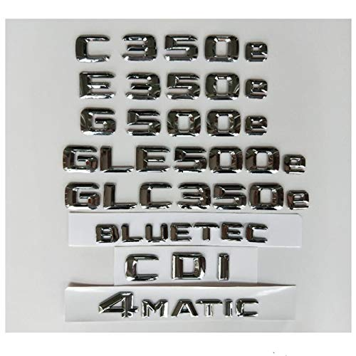2 Stück Auto Aufkleber Beschriftung für Mercedes Benz AMG Metall silbrig Chrome 3d Aufkleber Auto Aufkleber Emblem Silber Sport Auto Metall Aufkleber Aufkleber Abzeichen