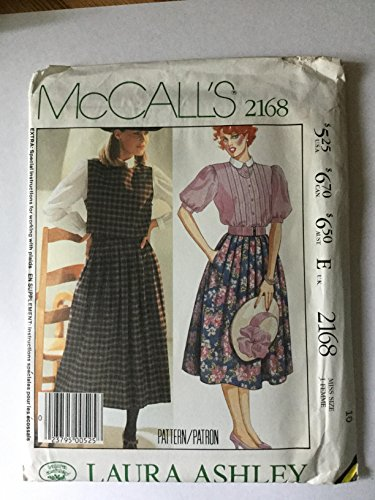 McCall's Laura Ashley 2168 Size 10 Sewing Pattern Misses' Blouse, Vest and Skirt