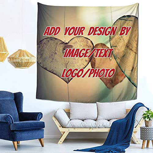 Custom Tapestry Personalized Design tapestry Customized Gifts Photos Collage Room Decor Birthday Fathers Mothers Day Gifts 59x59 (1Photo)