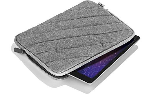 Durable 530537 - Custodia Protettiva Per Tablet Da 10, Imbottita, Doppia Zip, Tasca Frontale, Risvolto Interno Per Proteggere Da Graffi, Grafite