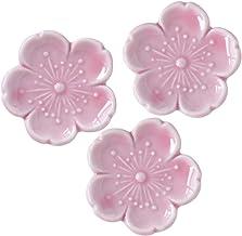 Minoru 陶器 筷架 新櫻 粉色 4.5×4.5 厘米 3 個裝