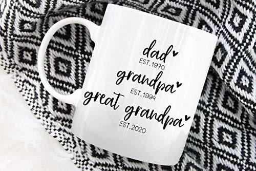 N\A Taza Personalizada Papá, Abuelo, bisabuelo Taza - Anuncio de Embarazo - Gran Regalo del Abuelo - Nuevo Regalo del bebé - Nuevo Abuelo Personalizado OMA Nana Poppa Woman