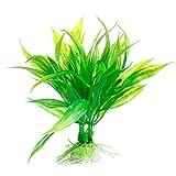 YU-HELLO Decoración de acuario verde artificial de plástico verde para plantas de agua