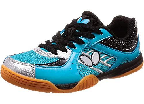 Butterfly Lezoline SAL Shoes – Breathable, Excellent Grip, Tournament Quality Table Tennis Shoes for Men or Women – Colors: Blue, Grey, Lime Green, Pink or White, 10