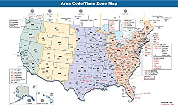 Map - File Area Codes Time Zones US Jpg Wikimedia Commons Fair Map of in The Us Vivid Imagery Laminated Poster Print-20 Inch by 30 Inch Laminated Poster With Bright Colors