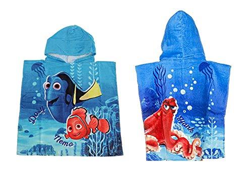 Serviette de bain peignoir à capuche poncho pour enfant coton - au choix : Minions Winnie Dory PJMAsk Super Wings Jurassic - Cadeau pour fille et garçon - -