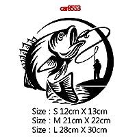 HXKGSMG 釣りに行く車のステッカーとデカール魚高品質 KK 素材車の装飾用ステッカーオートバイボディクールデカールカバー自動動物 SizeM Style2