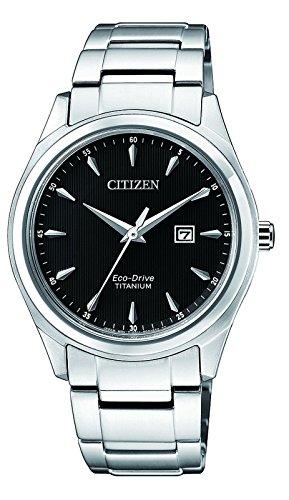 CITIZEN Damen Datum klassisch Solar Uhr mit Titan Armband EW2470-87E