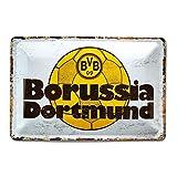 Borussia Dortmund, BVB-Blechschild Retro, 0, 0 -