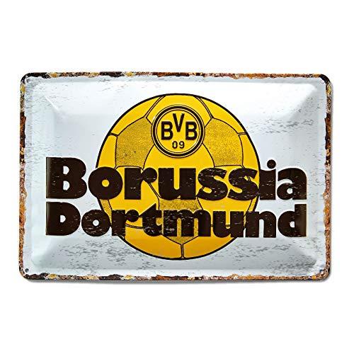 Borussia Dortmund, BVB-Blechschild Retro, 0, 0