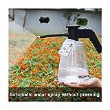 ZXCV Pulverizador eléctrico de jardín 2L con Boquilla Botella de pulverización de Alta presión Jardinería Regadera de Flores Maceta,Clear