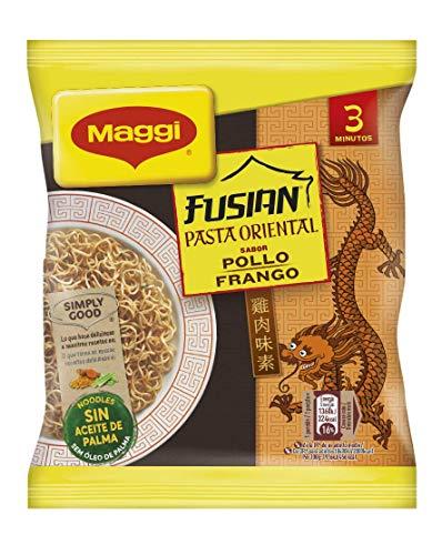 MAGGI Fusian Pasta Oriental Noodles Sabor Pollo - Fideos Orientales - Bolsa de fideos orientales de 71g (1 ración)
