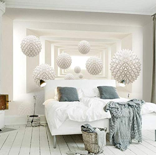 3D vliesbehang, fotovlies, premium fotobehang, behang, modern, eenvoudige designs, stereoscopisch, space, ronde bal, grote muurschildering, kunst wallpaper 400*280 400 x 280 cm.