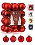 Aitsite 24PCS Bolas de Navidad 4 cm Bolas de árbol de Navidad Adorno de Pared Colgante de...