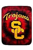 Northwest 5M-V9C7-K2BR Officially Licensed USC Trojans NCAA College Blanket/Throw Twin Size 60' X 80' Enterprises, Multicolor