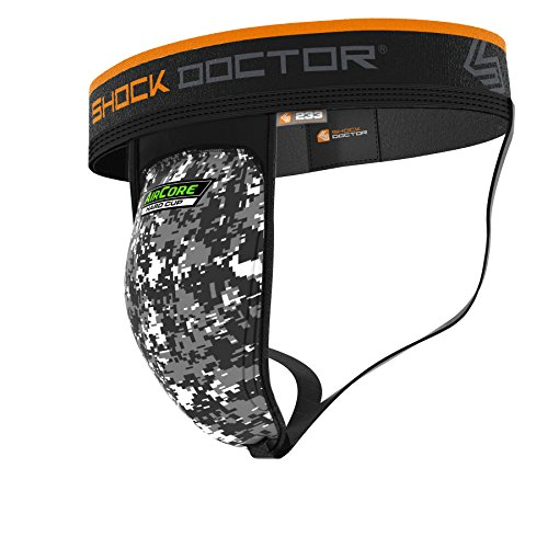 Shock Doctor 233 Supporter w/Aircore Hard Cup Boys Large, Black/Camo
