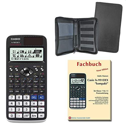 Casio FX-991DE X (SCHULpaket) + Erweiterte Garantie + Schutztasche + Fachbuch : calcumio Artikel Set