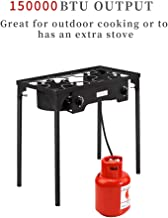 ROVSUN Outdoor Propane Gas Stove High Pressure, Stand Cooker for Backyard Cooking Camping Home Brewing Canning Turkey Frying, 20 PSI CSA Listed Regulator