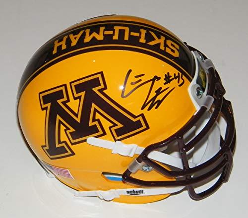 Carl Eller NCAA Minnesota Gophers Hand Signed Mini Helmet