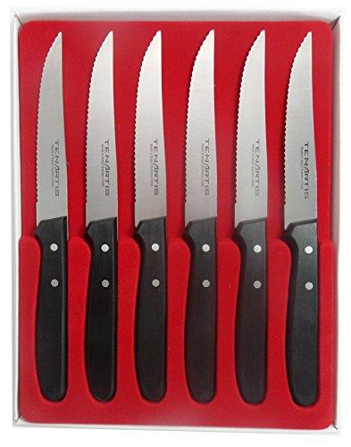 Tenartis 494 Set 6 Coltelli Bistecca, lama 11,5 cm - Made in Italy