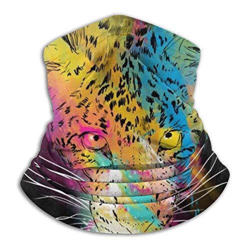 Head Wrap Colorido Cheetah Acogedor Cumpleaños Invierno Deportes Pesca Mujeres Suave Cuello Polaina Sin costuras Cálida Regalo Calienta Viento Headwear Bandanas Sunscreenmen Colorido Multifun
