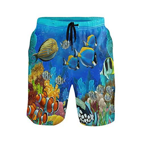 Lindo Bebé Regalo Animal De Pescado De Mar Bañador para Hombre Pantalones Cortos Bañadores Shorts para Hombres Natacion Piscina Surf Playa