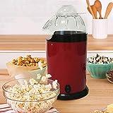 Home Popcorn Maker - Macchina per popcorn, antiaderente, salvaspazio, colore: rosso...