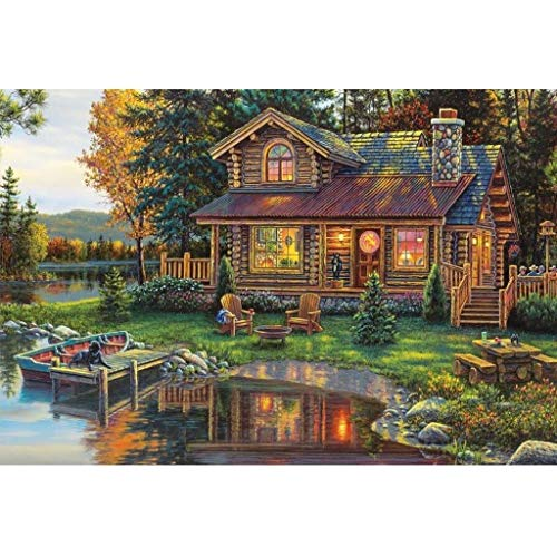 WUJINJ Exquisite Creativiteit Cottage On Riverside puzzel, Perfect Cut & Fit, 300/500/1000/1500/2000/2700/3000/5000 Pieces Boxed Puzzels Speelgoed Game Art schilderen for volwassenen & Kids Gifts