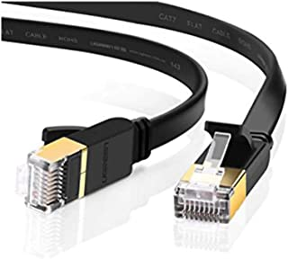 LC7480 EDIMAX Flat 10M Black Cat7 Patch Lead 10Gbe Edimax 10M in Length, Rj45 Connectors Prevent Cable Damage and Also Pro...