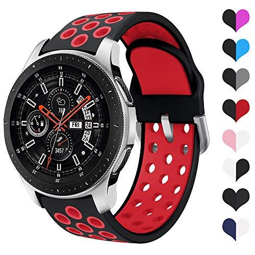 YPSNH Compatible para Samsung Galaxy Watch 46mm Correa de Silicona Suave de Doble Color 22mm Gear S3 Correa Reemplazo de Pulsera Deportiva para Gear S3 Frontier/S3 Classic/Huawei Watch GT 46mm