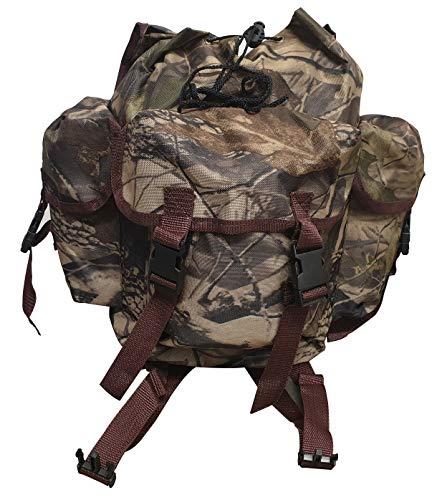 Carson - Zaino da Pesca Style Multiuso, Borsa Zainetto Color Militare Camouflage di Piccole Dimensioni e Capiente, Design Moderno con Tasche e Tessuto Anti Pioggia