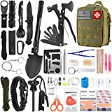 Emergency Survival Kit and First Aid Kit, 142Pcs Professional Survival Gear and Equipment with Molle...