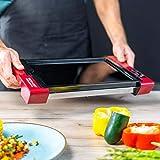 ECODE Plancha de asar eléctrica Digital con Termostato regulable y superficie de cocción de cristal German Touch ECO-430
