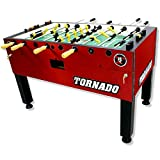 Tornado Tournament 3000 Foosball Table - Made in The USA - Commercial Tournament Quality for The Home - Made by Valley Dynamo - Incredible Table Soccer Game (1 Man Goalie, Red)